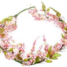 Goblen - Ghirlanda flori roz