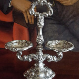 Nr.17 Solnita baroc foarte veche din argint marcata S cu model deosebit., Ornamentale