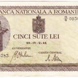 Bancnota 500 lei 2 IV 1941 filigran vertical XF/a.UNC (1)