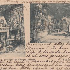 REGALITATE, SOUVENIR DE SINAIA, CABINETUL DE LUCRU AL REGELUI, CIRC. OCT.99 - Carte Postala Muntenia pana la 1904, Circulata, Printata