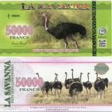 LA SAVANNA- 50000 FRANCS 2016- UNC!! - bancnota africa