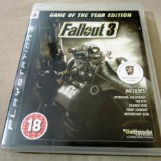 Joc Fallout 3 Game of the year Edition original, PS3! Alte sute de jocuri! - Jocuri PS3 Ubisoft, Actiune, 18+, Single player