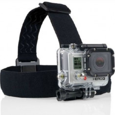 Suport casca pentru camere GoPro HD Hero 2 3 3+ 4 din material elastic. - Camera Video Actiune