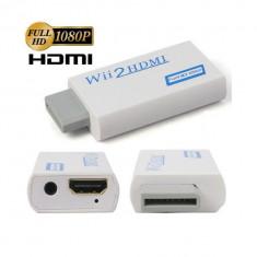 Cablu Camera Video - Adaptor convertor Wii la HDMI cu 3.5mm Audio Output FullHD 1080p