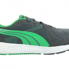 Adidasi barbati - Pantofi Alergare Barbati, Puma, Descendant V2 Fitness Shoes, Gri-Verde-44