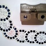 Aparat de Colectie - Stereoscop VIEW MASTER, cu 6 diapozitive 3D, 2 aviatie
