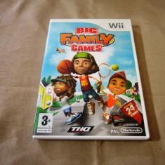 Joc Big Family Games, pentru Wii, original, PAL - Jocuri WII Thq, Actiune, 3+, Multiplayer