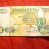 Bancnota 20 K Zambia 1992 cal.necirculat - bancnota africa