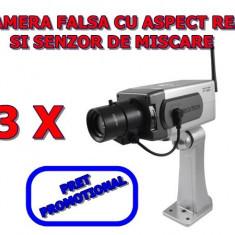 Camera falsa - Set 3 bucati Camera video falsa de Supraveghere Wireless Dummy