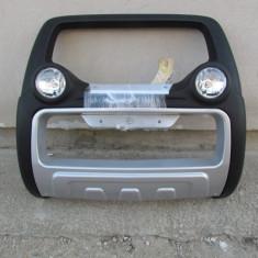 Bullbar inox cu proiectoare compatibil NISSAN NAVARA D40 2005-> - Bullbar auto