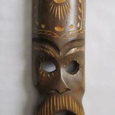 Arta din Africa - MASCA AFRICANA-arta africana-aplica, lemn exotic, vintage