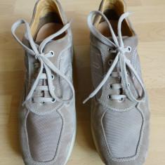 Pantofi barbati - Pantofi Geox Respira 100% piele naturala; marime 46 (30 cm talpic); impecabili