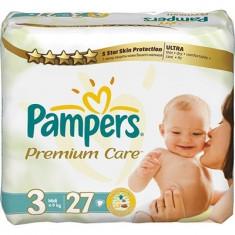 Scutece unica folosinta copii - PAMPERS Scutece Pampers Premium Care 3 Midi Value Pack 27 buc