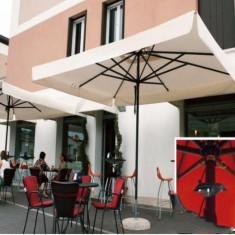 Mobila terasa gradina - Umbrela Napoli - cu schelet de aliaj metalic usor 3.5x3.5 m - Sco3535NT