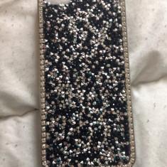 Husa, iPhone 5/5S, Negru - Huse iPhone 5/5s cu diamante, sclipici si glitter, f elegante