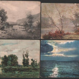 Lot 4 c.p. ilustrate vechi, peisaje, Fotografie, Europa