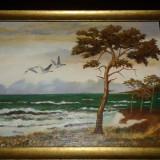 Tablou ulei pe panza semnat, Natura, Acrilic, Realism