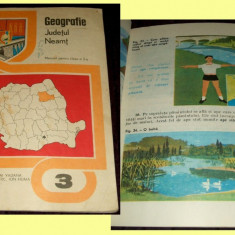 Carte Epoca de aur - Geografie judetul Neamt, manual ilustrat clasa a III-a 1981, Epoca de Aur