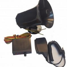 Sirena 3 melodii cu microfon 50W - Sirena Auto