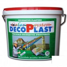 Tapet - Tencuiala decorativa DecoPlast B1 driscuita 1, 0, 1, 5 si 3 mm - 28 kg