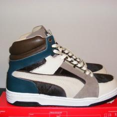 Ghete Puma Slip Stream X Made in Italy - Dark Gray nr. 43 - Ghete barbati Puma, Culoare: Din imagine, Piele naturala
