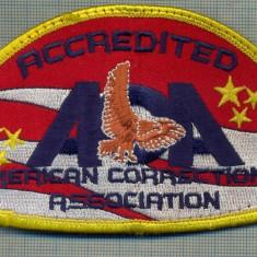 Uniforma militara - 81 - EMBLEMA MANECA- ACCREDITED AMERICAN CORRECTIONAL ASSOC.-starea care se vede