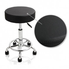 Scaun cosmetica, frizerie, mobilier scaun SALON manichiura, pedichiura Negru