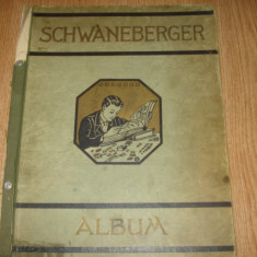 ALBUM FILATELIC VECHI -SCHWANEBERGER - album clasor