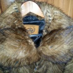 Palton dama - Haina de blana naturala NURCA, Superba ! Marime XL 86 cm lungime