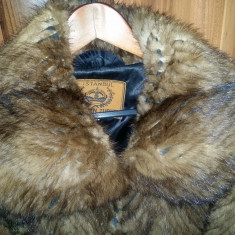 Haina de blana naturala NURCA, Superba ! Marime XL 86 cm lungime - Palton dama, Marime: XL/XXL, Culoare: Maro