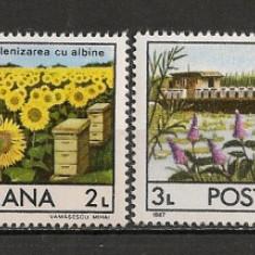 Timbre Romania, Nestampilat - Romania.1987 Apicultura HR.308