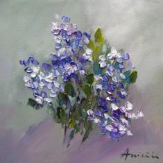 Tablou ulei-LILIAC, Flori, Impresionism