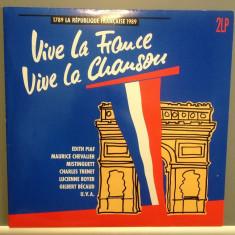VIVE LA FRANCE - 2LP BOX SET cu:PIAF, MACIAS.... (1989/EMI REC/RFG) - VINIL/VINYL - Muzica Pop emi records