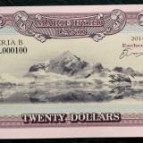 Bancnota Straine, Australia si Oceania, An: 2014 - Marie Byrd Land (Antarctica) 20 DOLLARS $ 2014 SERIE RARA 000100 UNC **