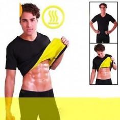 Echipament Fitness, Costum fitness - Set Fitness pantaloni si tricou de slabit pentru barbati Hot Shapers
