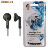 "Casti Panasonic, Casti In Ear, Cu fir, Jack 3, 5mm - Casti ""in ear"" MP3-CD Panasonic RP-HV104, NOI"
