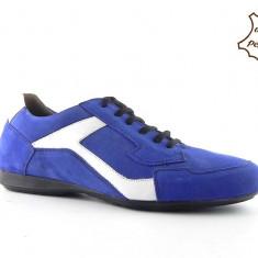 Pantofi sport barbatesti din piele intoarsa HUN-12 - Pantofi barbati, 41, 43