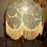 Inedit lampadar antic, veioza de podea cu un abajur spectaculos