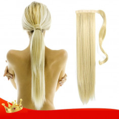 Coada extensie blonda, Extensie coada cu efect natural, Extensii coada par blond - Extensii par