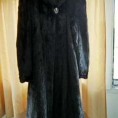 Haina de blana, nurca - Black Excellent Mink - Palton dama, Marime: 46/48, Culoare: Negru