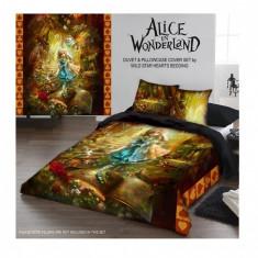 Set lenjerie de pat din bumbac Alice în țara minunilor 220x230