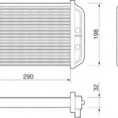 Schimbator caldura, incalzire habitaclu FIAT DUCATO caroserie 2.5 TDI - MAGNETI MARELLI 350218068000 - Sistem Incalzire Auto