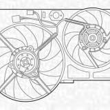 Ventilator, radiator PEUGEOT 806 2.0 Turbo - MAGNETI MARELLI 069422299010 - Electroventilator auto