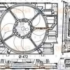 Ventilator, radiator BMW 5 Touring 530 d - HELLA 8EW 351 043-331 - Ventilatoare auto LuK