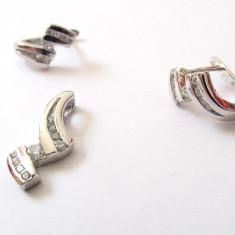 Set argint rodiat cu zirconia - Set bijuterii argint