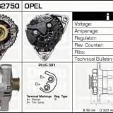 Generator / Alternator OPEL ASTRA G hatchback 2.0 DI - DELCO REMY DRB2750 - Alternator auto