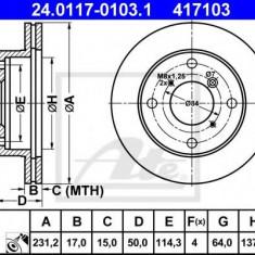 Disc frana SUZUKI SWIFT  1.0 - ATE 24.0117-0103.1 - Discuri frana REINZ