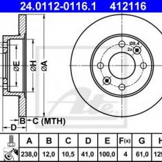 Disc frana RENAULT SUPER 5 1.4 - ATE 24.0112-0116.1 - Discuri frana REINZ