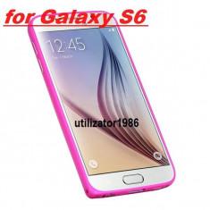 Bumper aluminiu samsung galaxy s6 - roz - Bumper Telefon, Roz