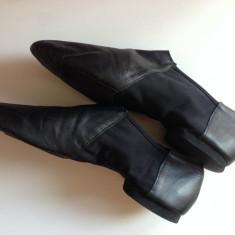 Pantofi dans profesionali originali din piele M:42 Hand Made UK, Culoare: Negru